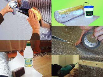 Чем приклеить пенофол к бетону на потолок?