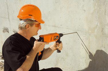 Как сверлить бетонную стену?
