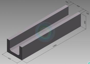 Лотки железобетонные водопропускные прямоугольного сечения