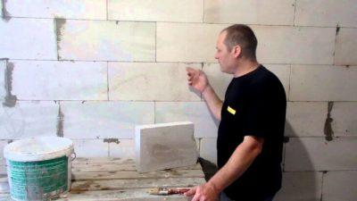 Шпаклевка стен из газобетона без штукатурки