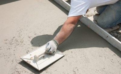 Как зажелезнить бетонный пол цементом?