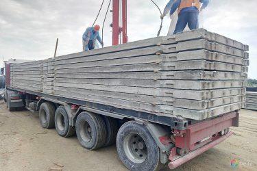 Перевозка железобетонных плит автомобильным транспортом